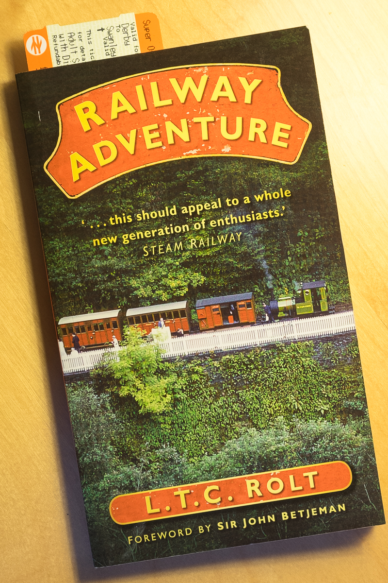 Copy of the book 'Railway Adventure' by L.T.C. Rolt