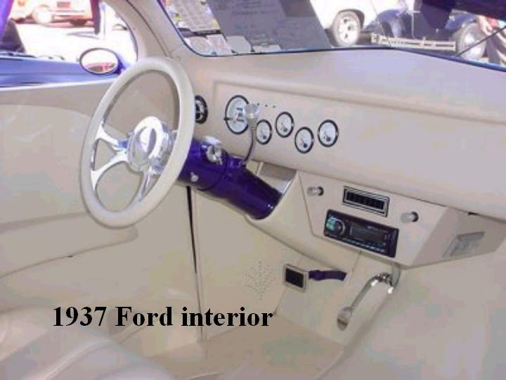 1937 Ford interior