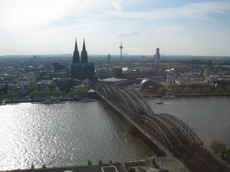 Köln (Cologne).View from The Triangle Tower