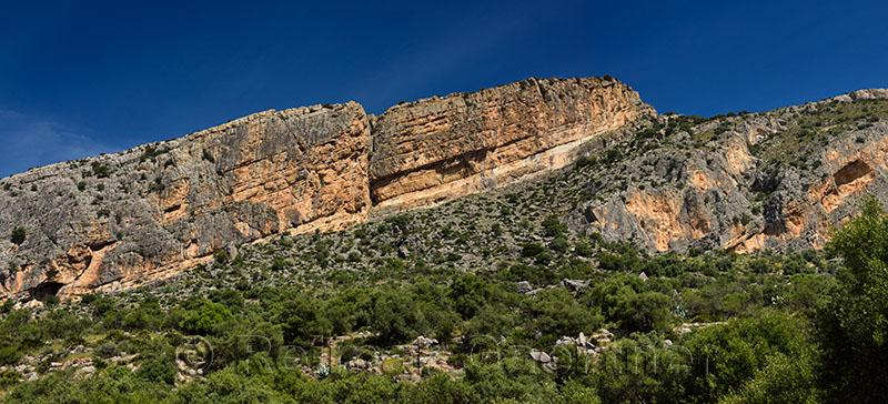 Castillon Peak of Sierra Penarrubia in the Penibaetic System of southern Spain