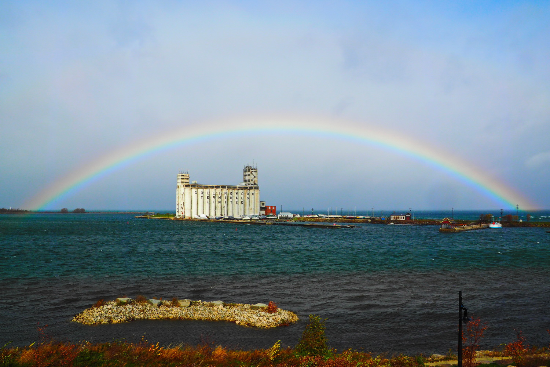 Collingwood Harbour Rainbow 1, Nov. 1, 2013