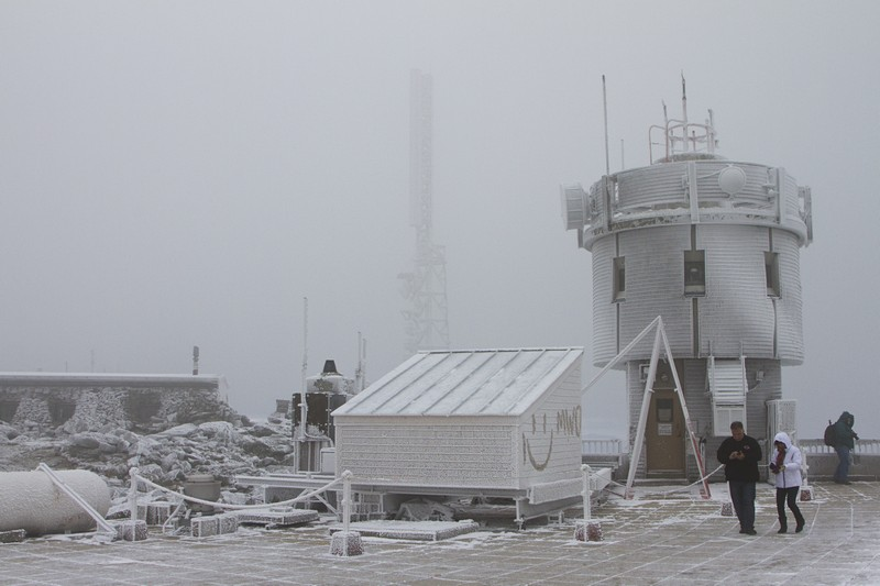 6.  Weather station at the peak.