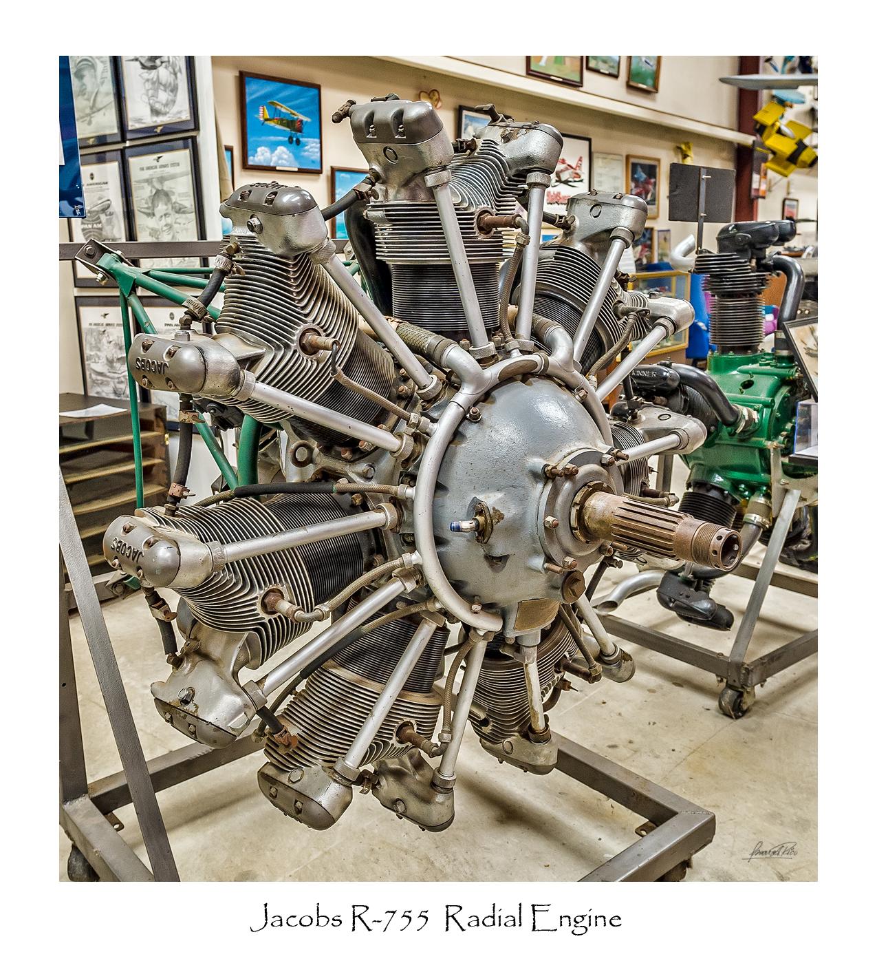Jacobs R-755 Radial Engine jpg photo - Oscar A Rico photos