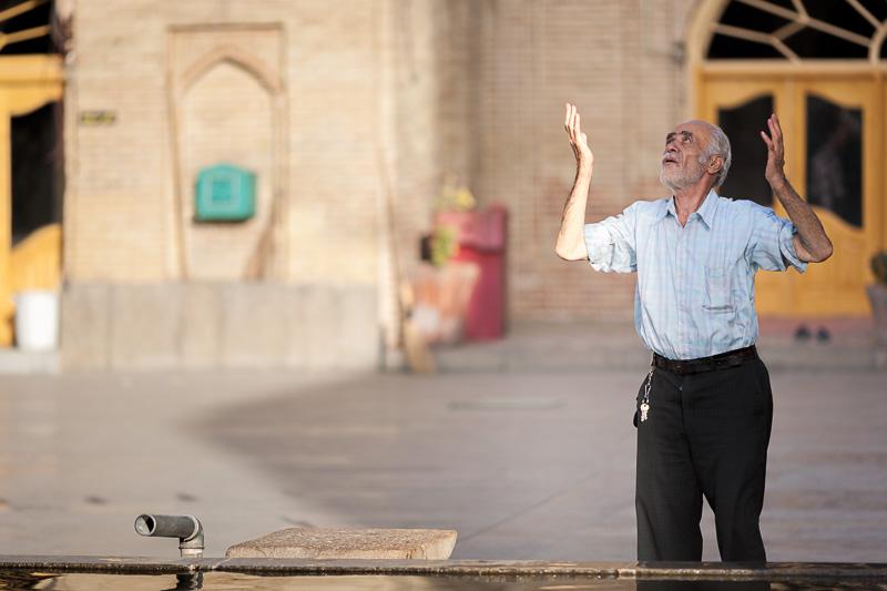 Man praying - Hamedan, Iran