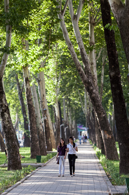 Girls walking - Dushanbe