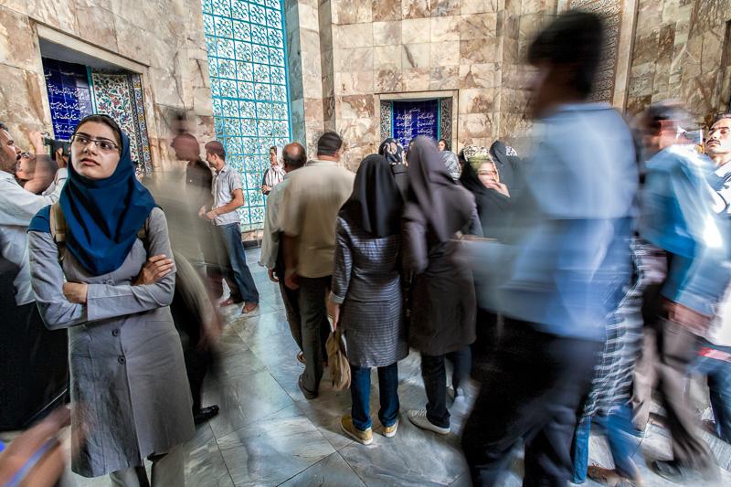 Iranians at Saadis tomb - Shiraz