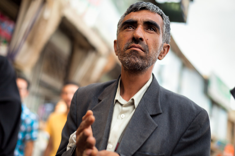 Man in busy street - Esfahan
