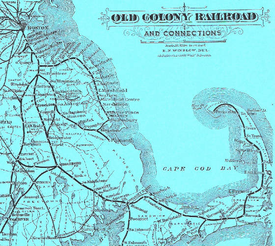 Old Colony Railroad Map