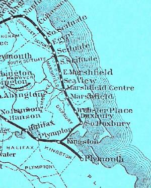 Close-up of Railroad Map
