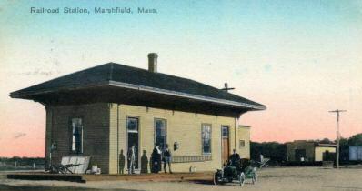 Marshfield Station Postcard