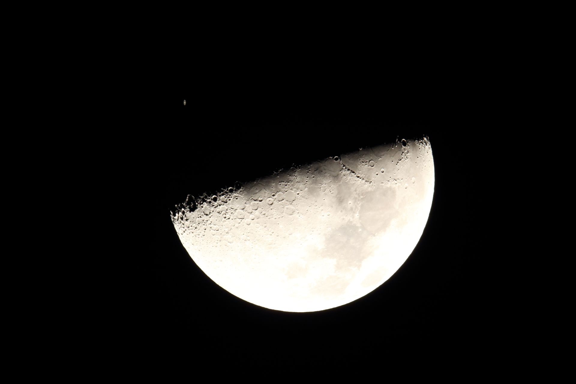 Saturn approaching the Moon