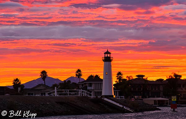 Discovery Bay Lighthouse Sunset  3 --- 2014 Town of Discovery Bay Calendar cover photo