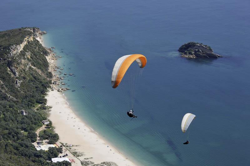 Flying over Galápagos Beach