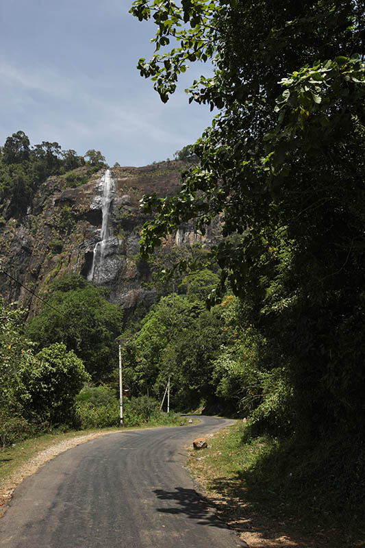 Waterfall along the road