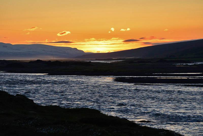 From Húsavik to Kidagil, midnight Sun