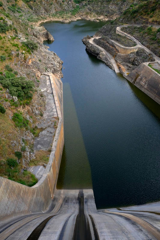 Dam near Miranda do Douro, Portugal