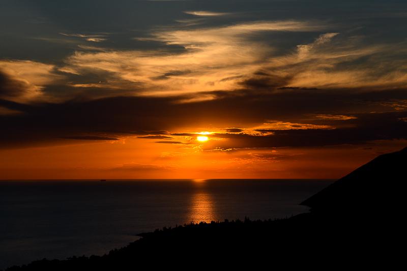 Sunset over Dhërmi Bay
