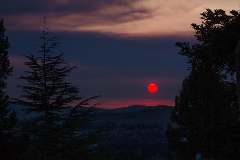 Mt. Diablo Fire 2013 Sunrise