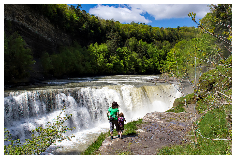 Kathy and Norah at Lower Falls