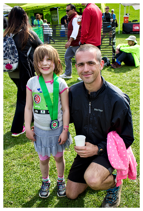 Norah with her medal