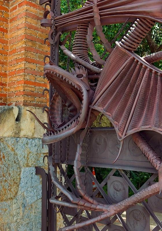 Dragon At The Finca Güell Pavillions
