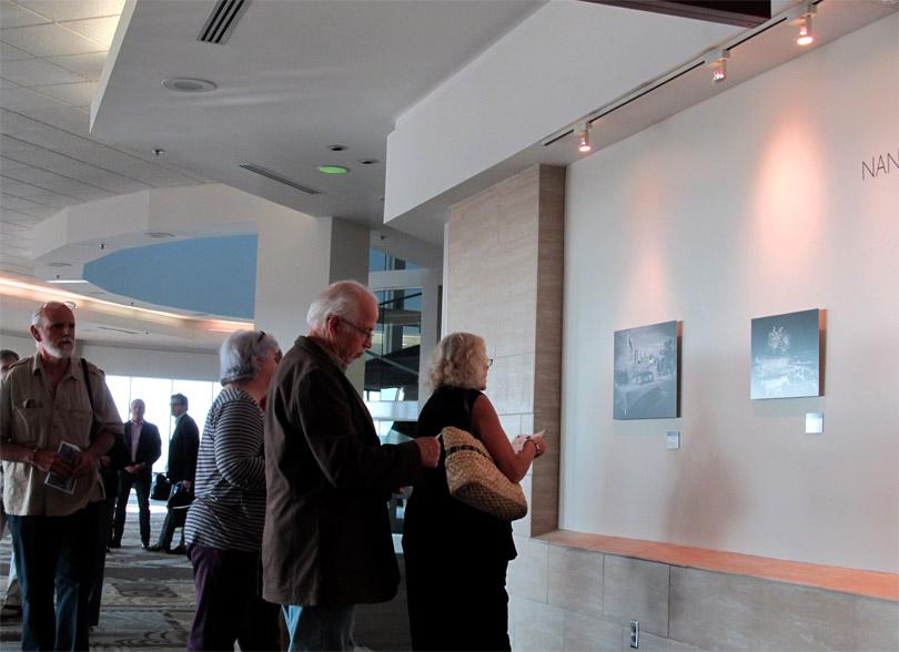 Visitors to Nancys Exhibit