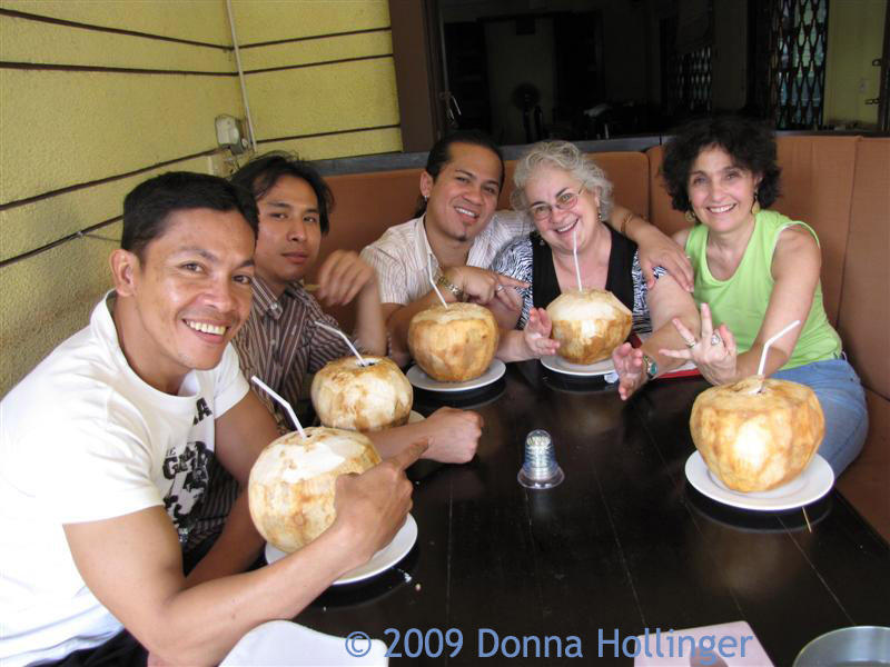 Drinking Coconut with the Gang