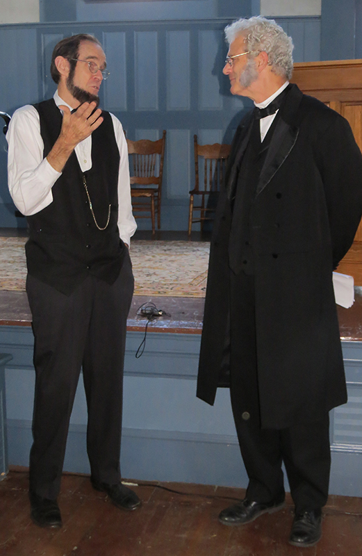 Abe and Morrill at the Strafford Townhouse