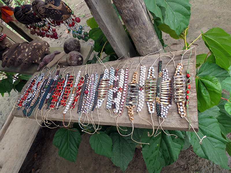 Bracelets, Bowls etc, from Yagua Village