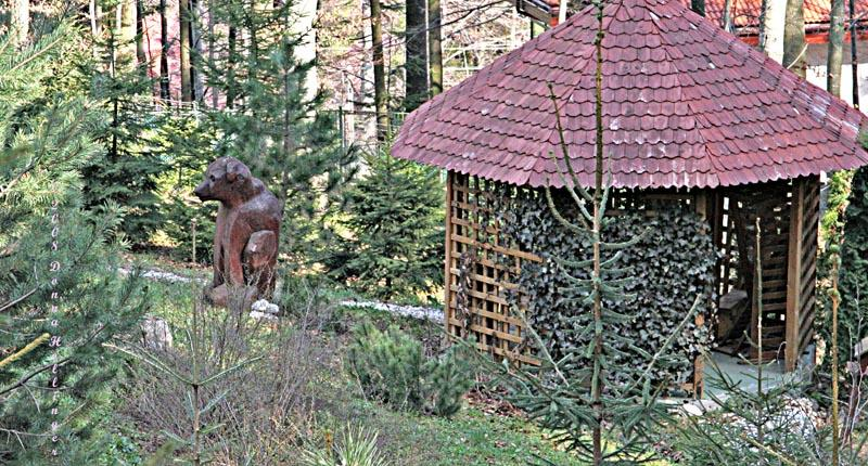 Bear Sculpture in  the Garden