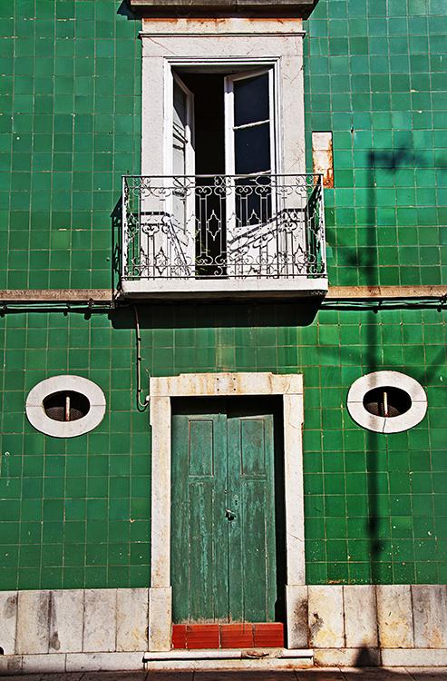 green tiles Tavira