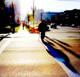 Homeless Man in Early Morning Light