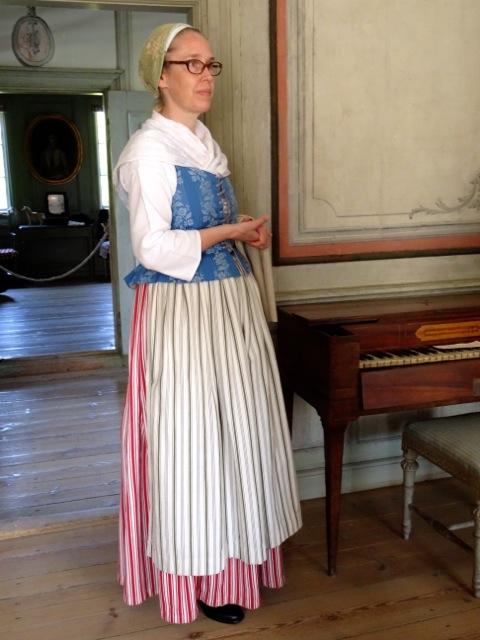 Costumed guide at Skogaholm Manor