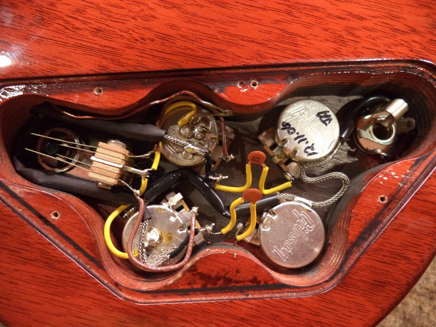 Gibson Sg 61 Control Cavity Wiring Diagram Active Img