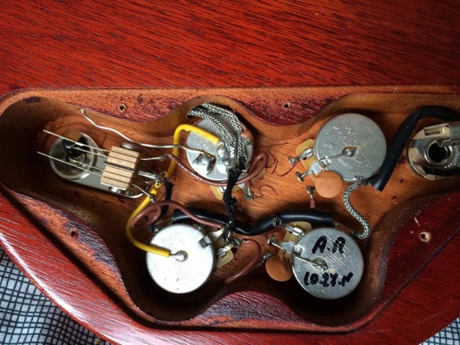 Gibson Sg 61 Reissue Wiring Diagram : Gibson sg control cavity everythingsg