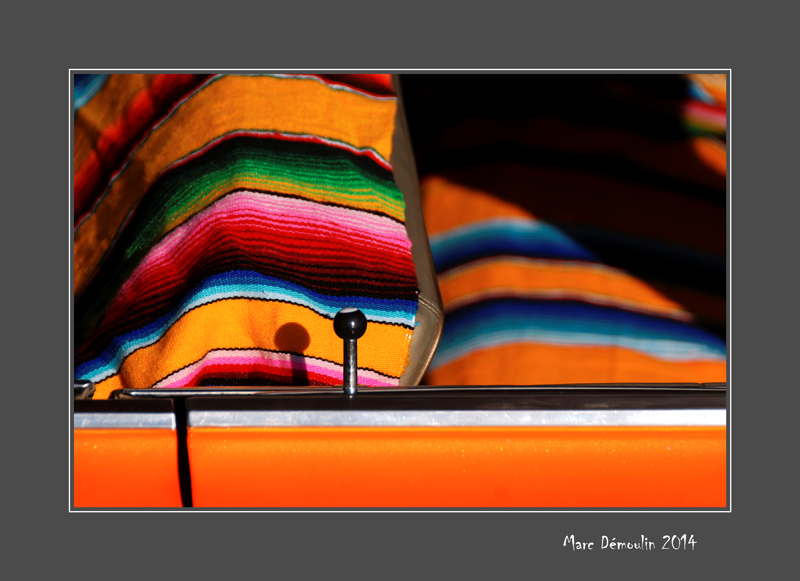 Blanket in a 50s American car