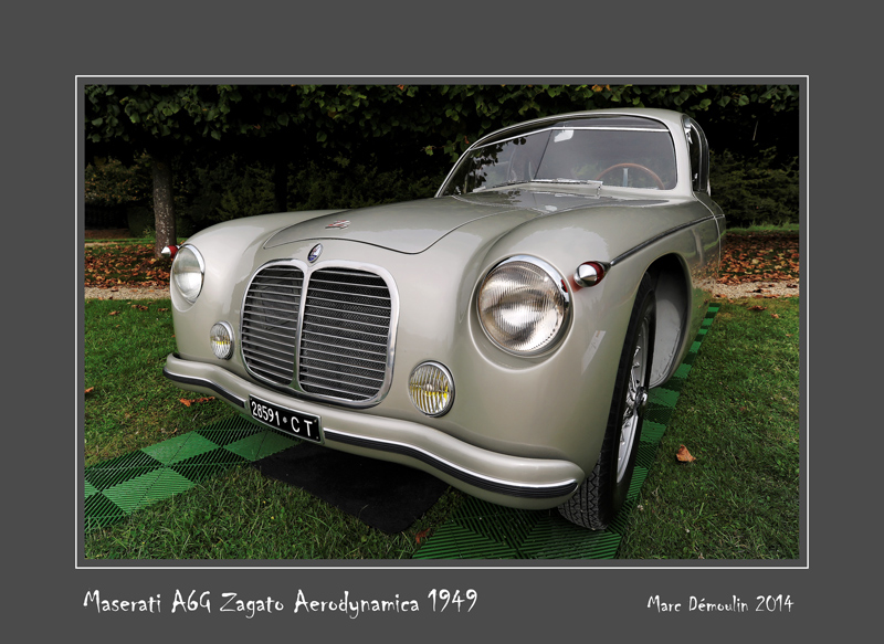 MASERATI A6G Zagato Aerodynamica 1949 Chantilly - France