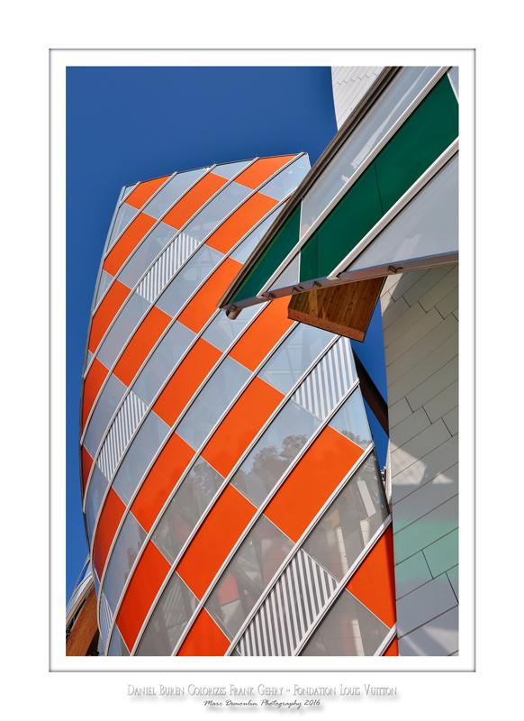 Fondation Louis Vuitton colorized by Daniel Buren 15