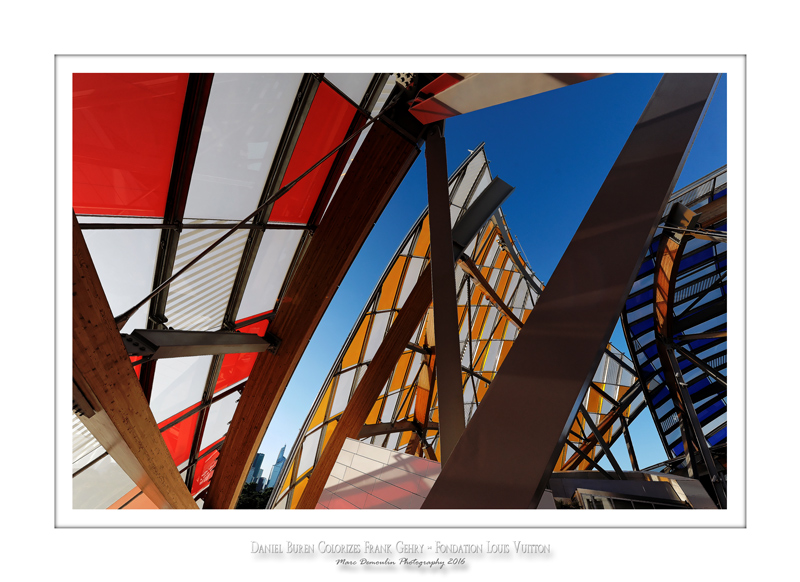 Fondation Louis Vuitton colorized by Daniel Buren 35