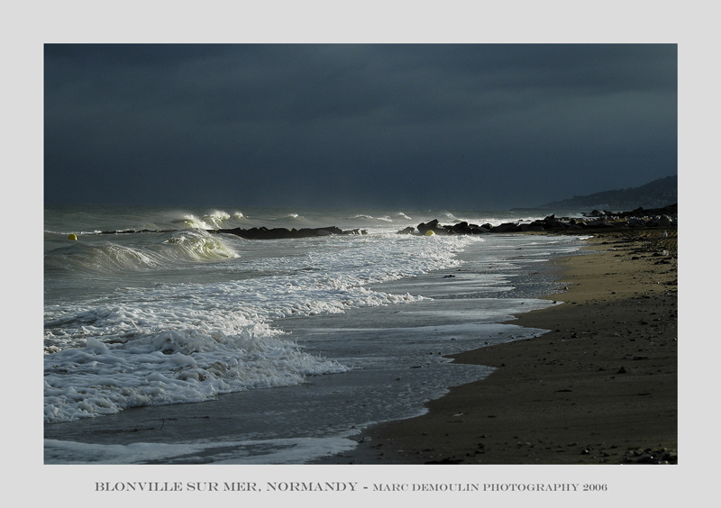 Normandy, the coast at Blonville/mer 1