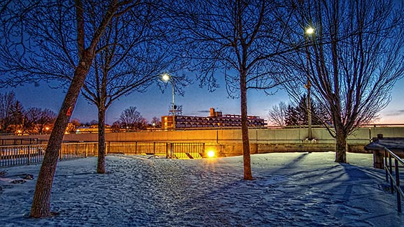 Dawn Beside The Combined Lock 20150125