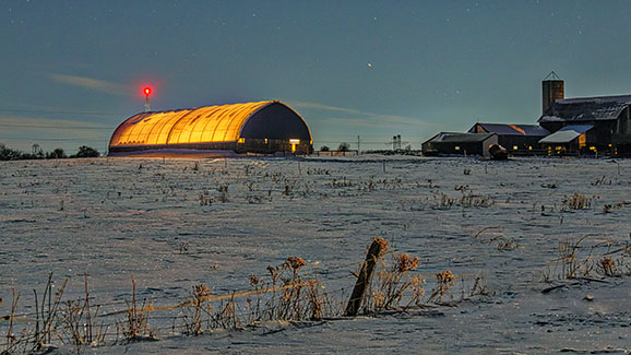 Glowing Barn 20150301
