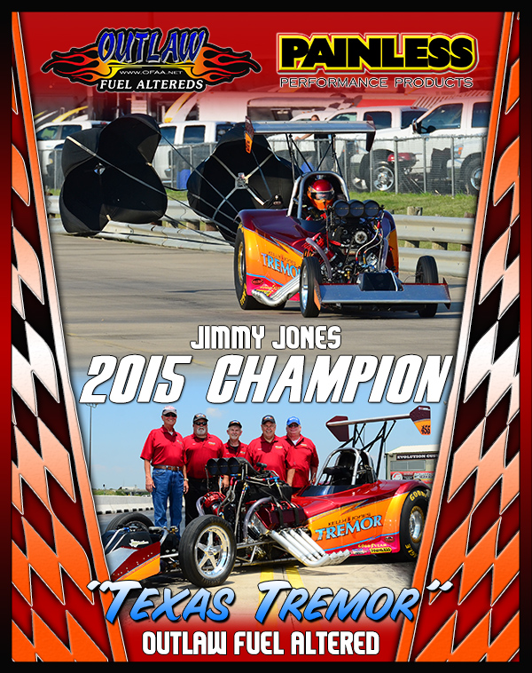 2015 Outlaw Fuel Altered Champion Plaque