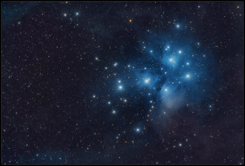 Messier 45 and the surrounding nebula