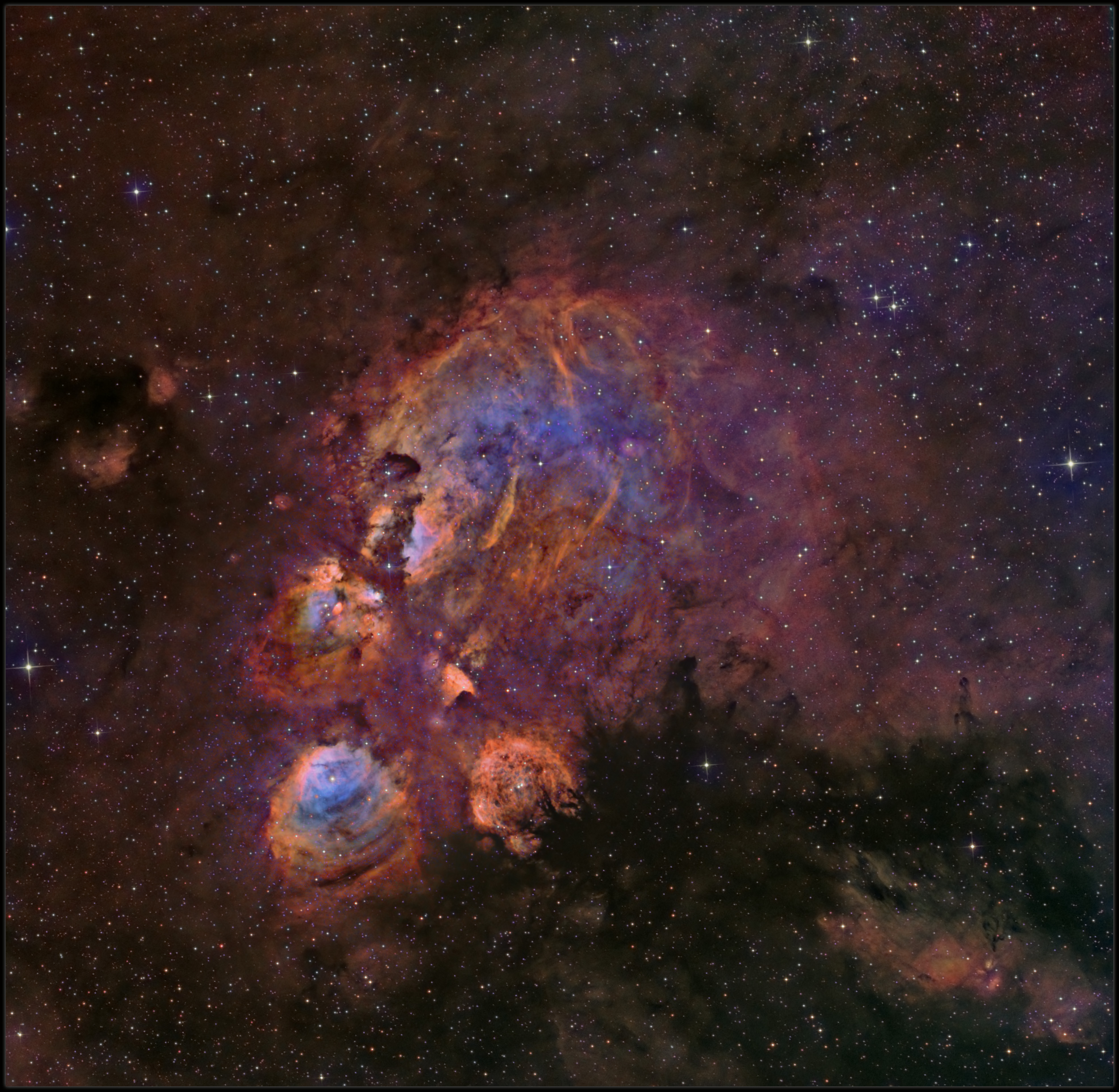 The Cats paw nebula In Hubble color mapping