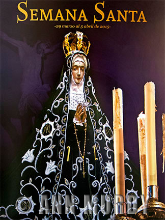 Poster for Semana Santa with the Virgin of Soledad