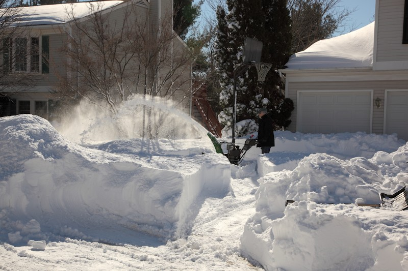 Neighbor before me in line for the snow blower
