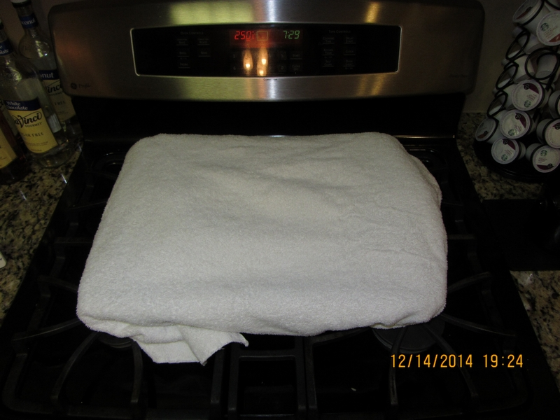 Toweled.
