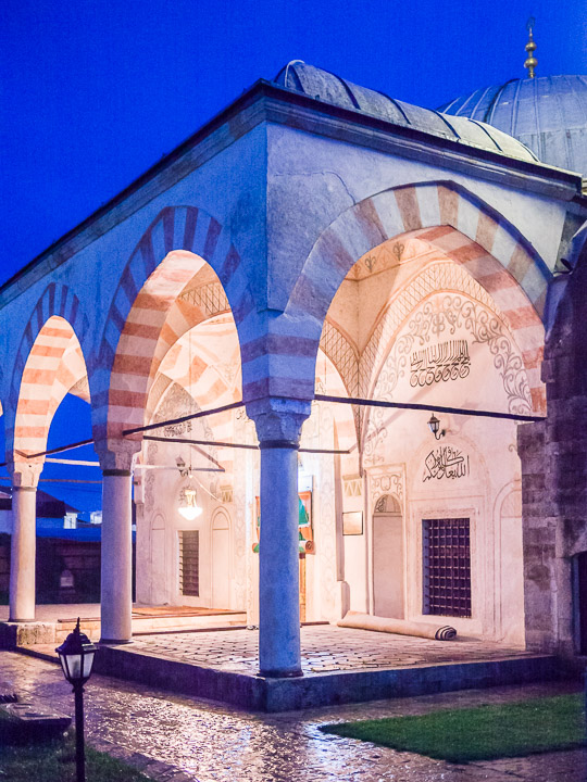 Hadum Mosque at night