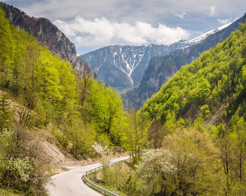 Rugova Valley road near Shtupeq i Madh